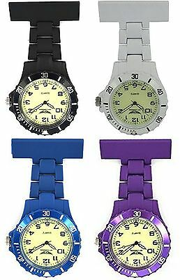 NY London Luminous Face Silicone Rubberised Plastic Nurse FOB Watch Brooch