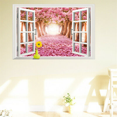 3D Wall View Window Decal Art Vinyl Decor Removable Home Sticker Stickers Mural