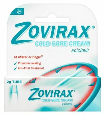 Zovirax Cold Sore Cream Aciclovir 5% 2g