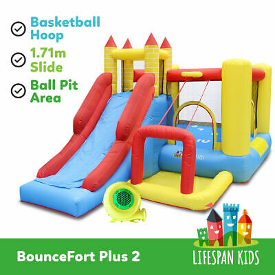 Inflatable Trampoline Bounce House Slide Jump Toy BounceFort Plus lifespan kids