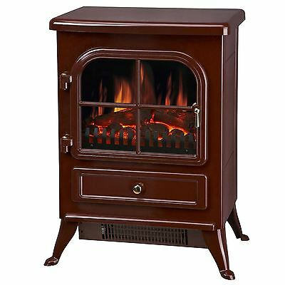Manor Fireplace Red Vista Built In Fan Heater Electric Stove Fire 3124