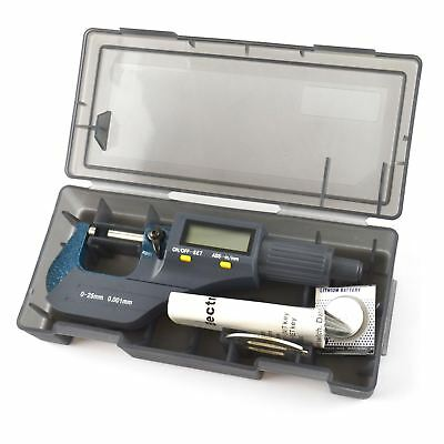 Digital Micrometer 0 - 25mm External Mechanics Engineers Measuring Electronic