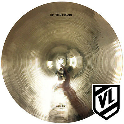 """13"""" WUHAN Thin Crash Cymbal - Traditional Cymbals - WUCR13T - NEW"""