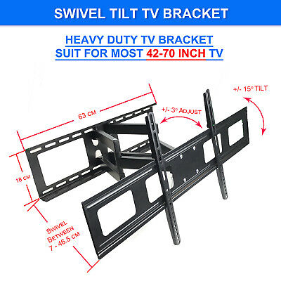 Swivel Tilt LCD LED Flat TV WALL MOUNT BRACKET 42 47 48 49 50 55 60 65 70