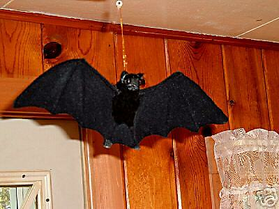 REALISTIC VAMPIRE BAT HAUNTED HALLOWEEN PROP FURRY ANIMAL 45bl FREE SHIPPING USA