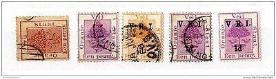 South Africa Orange Free State Collection of 5 Mint/VFU X3656