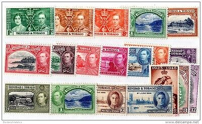 Trinidad & Tobago KGVI Collection of 19 To 24c Mint/MH X3617