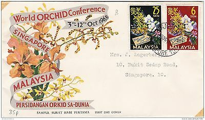Malaysia 1963 World Orchid Conference FDC ZZ2556