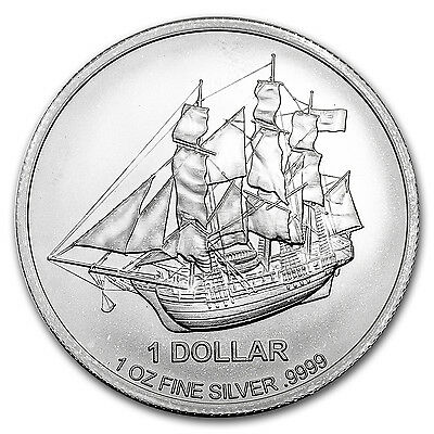 2016 Cook Islands 1 oz Silver Bounty Coin - SKU #102619