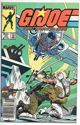 GI MARVEL COMIC G.I. JOE: A REAL AMERICAN HERO #24 News Stand Edition VERY FINE-