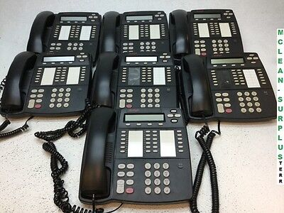 Lot of 7 Avaya 4412D+ Office Business Phones w/ Handsets -No Stands-