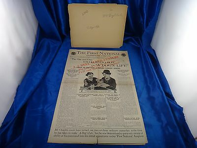 1918 Charlie Chaplin A Dog's Life Press Book Very Rare Possibly Only 1 Exist