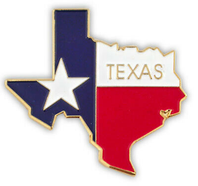 PinMart's State Shape of Texas and Texas Flag Lapel Pin