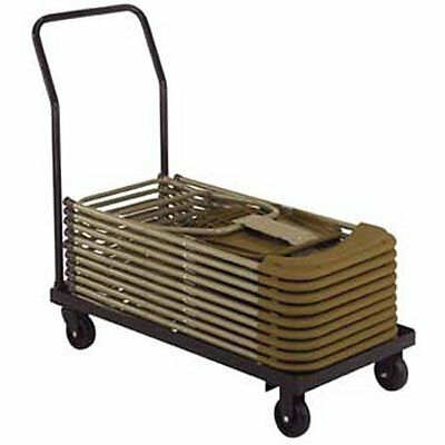National Public Seating Dy700/800 19x35 inch Folding Chair Dolly Storage Cart