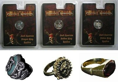 Master Replicas Jack Sparrow Button Dragon Stolen Rings