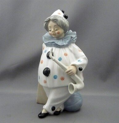 "Tengra Valencia Spain Young Girl Boy Saxaphone Circus Clown 10"" Figurine Llardo"