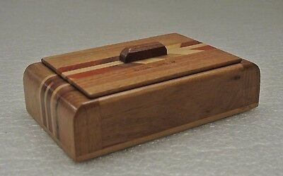 Souvenir Parquetry design Wooden Trinket Card Wood Box NATURAL TUNNEL Virginia