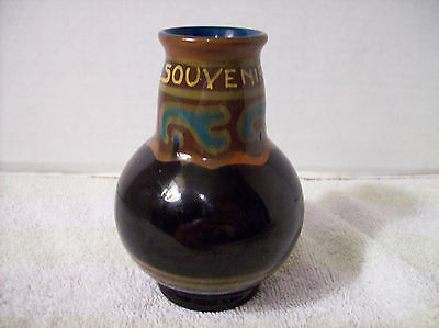 Souvenir of Abcoude Netherlands Gouda Pottery Vase by Zenith Potteries