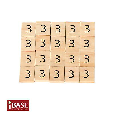 20x Wooden Number 3 Scrabble Tiles Scrapbooking Handcraft Letter set Formular