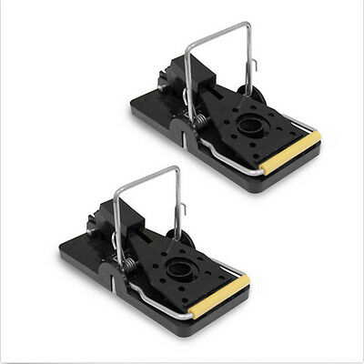 2 x Rat Trap Heavy Duty Snap-E Mouse Trap-Easy Set Catching Catcher New