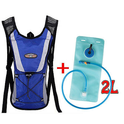 Sporting Backpack + 2L Water Bladder Bag Hydration Packs Camelbak Hiking Camping
