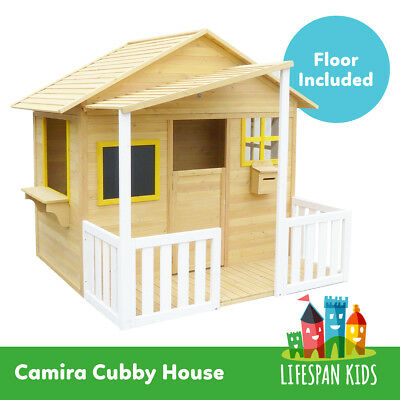 Lifespan Kids Camira Wooden Big Cubby Wooden Play House for Backyard Playground