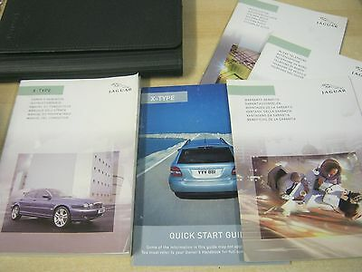 JAGUAR X-TYPE OWNERS MANUAL HANDBOOK  2003-2007 and audio book  AND WALLET