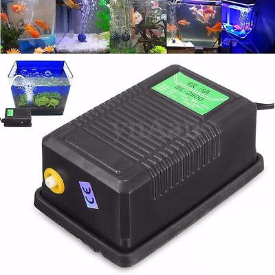 Adjustable Aquarium Oxygen Air Pump Water Fish Tank Pond Hydroponic 1 Outlet