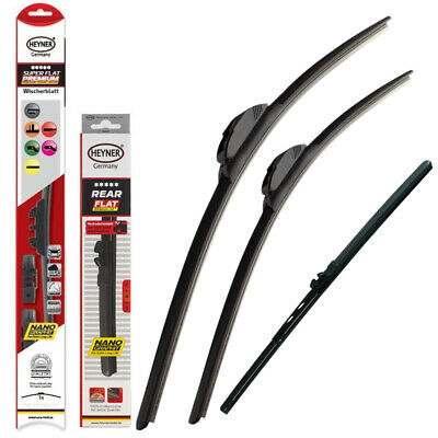 "BMW 1 series E81 E87 full set windscreen wiper blades 20""20""12"" front + rear"