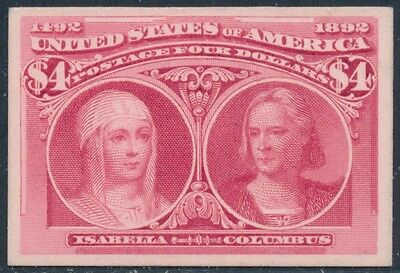 #244P4 Vf+ Plate Proof On Card Bt3253