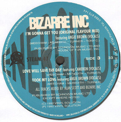 BIZARRE INC Energique Only Side C / D) - Vinyl Solution - STEAM 47 - Uk