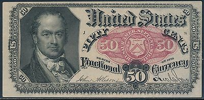 Fr1380 50¢ 5Th Issue Fractional Currency -- Choice Gem Unc -- Cv $250 Bt3320