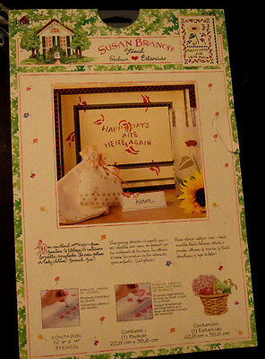 Susan Branch Stencil HAPPY DAYS ARE HERE AGAIN Sunflower Gifts Crafts NEW