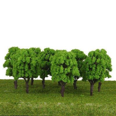 10pcs Light Green Model Old Trees Train Railway Architecture Scenery Layout HO