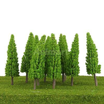10pcs Green O Scale 1:50 Model Metasequoia Tree for Railroad Park Street Layout