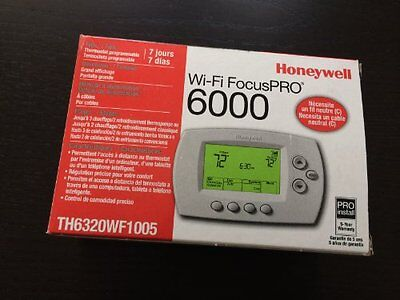 Honeywell Wi-Fi PRO 6000 Thermostat 3Heat/2Cool, 7 Day Programmable TH6320WF1005