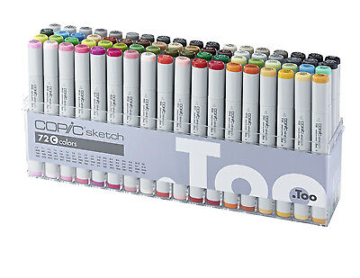 Copic Sketch Marker - 72C Manga Marker Set - Refillable With Copic Various Inks