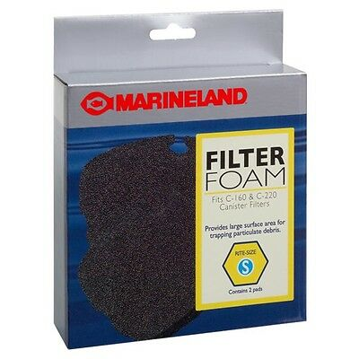 Marineland Filter Foam for Canister Filter Rite-Size S - 2 pk