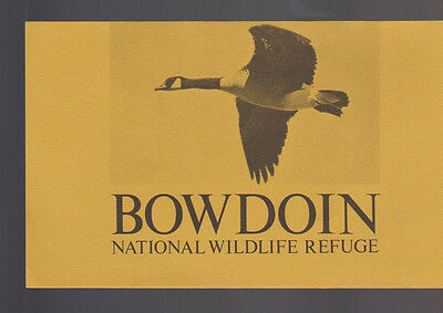 Bowdon National Wildlife Refuge Brochure Phillips County Montana 1971
