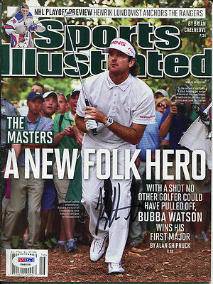 Bubba Watson Signed Autographed 2012 Master's Sports Illustrated Psa/dna #t86058