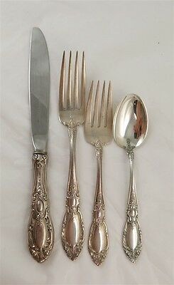 King Richard Sterling Silver 4 Piece Place Setting by Towle
