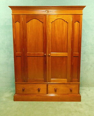 Reproduction Mahogany Double Door Wardrobe In The Victorian Style