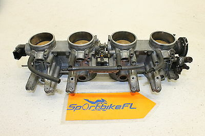 05-06 Suzuki Gsxr 1000 Gsx-R Oem Main Fuel Injectors Throttle Bodies Housing