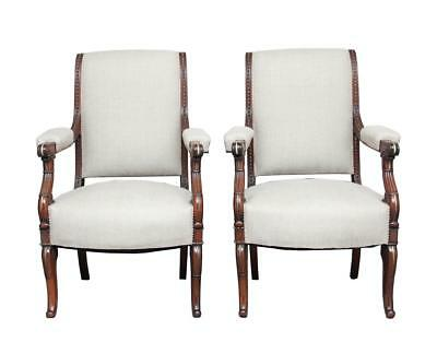 Pair Of Rare 19Th Century French Rosewood Armchairs