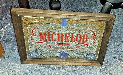 Rare Michelob Beer Mirror Sign Since 1896 Free Shipping