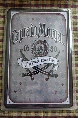 Captain Morgan Rum Tin Metal Sign Painted Poster Wall Art Hobby Collector Pub 2