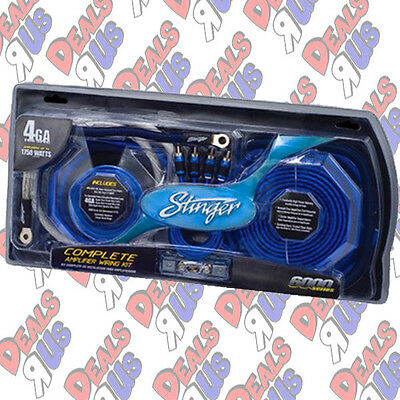 Stinger SK6641 4 Gauge 6000 Series Complete Amplifier Installation Kit