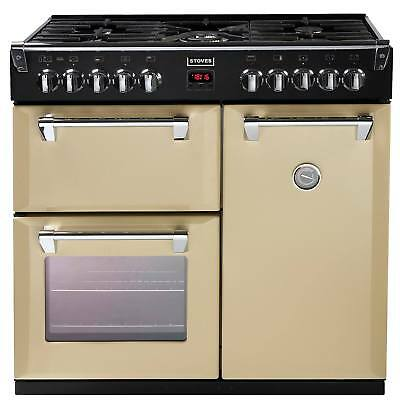Stoves Richmond 900DFT 90cm Programmable Dual Fuel Range Cooker in Champagne