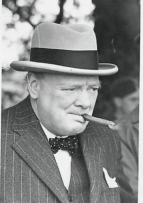 Art Print Poster / CANVAS Winston Churchill Smoking Cigar