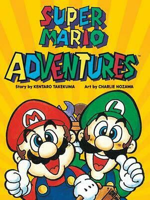 Super Mario Adventures by Kentaro Takemura Paperback Book Free Shipping!